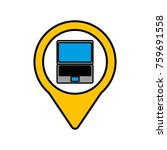 laptop digital communication... | Shutterstock .eps vector #759691558