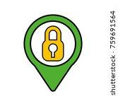 security social media pointer... | Shutterstock .eps vector #759691564
