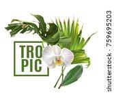 vector botanical banner with... | Shutterstock .eps vector #759695203