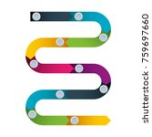 abstract colorful path timeline ... | Shutterstock .eps vector #759697660