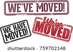we've moved relocation... | Shutterstock .eps vector #759702148