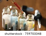 laboratory glass items adding... | Shutterstock . vector #759703348