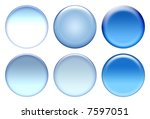 blue blank icon set | Shutterstock . vector #7597051