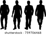 black silhouette of a man. | Shutterstock .eps vector #759706468