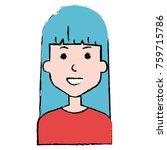 beautiful woman avatar character | Shutterstock .eps vector #759715786