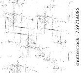 grunge black and white pattern. ... | Shutterstock . vector #759716083