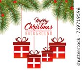 colorful and bright merry... | Shutterstock .eps vector #759719596
