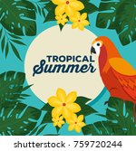 summer tropical background  | Shutterstock .eps vector #759720244