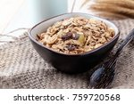 breakfast cereals with dried... | Shutterstock . vector #759720568