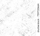grunge black and white pattern. ... | Shutterstock . vector #759720664