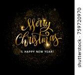 gold glittering star dust circle   Shutterstock .eps vector #759720970