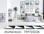 big studio lamp placed in the... | Shutterstock . vector #759723226