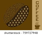 a giant coffee grain for a card ... | Shutterstock .eps vector #759727948