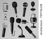microphone vector sound music... | Shutterstock .eps vector #759736138