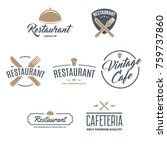 restaurant logos  badges and... | Shutterstock .eps vector #759737860