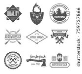 set of vintage vector logotypes ... | Shutterstock .eps vector #759737866