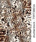 leopard art design | Shutterstock . vector #759738016