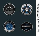 vector logos metal style | Shutterstock .eps vector #759738814