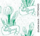 spring background. hello spring ...   Shutterstock .eps vector #759740443