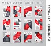 mega pack brochure design... | Shutterstock .eps vector #759746788