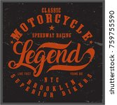 vintage bikers graphics and... | Shutterstock .eps vector #759755590
