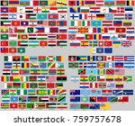 all flags of the world. correct ... | Shutterstock .eps vector #759757678