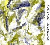 floral tie dye seamless pattern.... | Shutterstock . vector #759757699