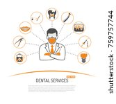 dental services and stomatology ... | Shutterstock .eps vector #759757744