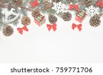 christmas decorations on a... | Shutterstock . vector #759771706