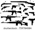 guns  pistol and revolver | Shutterstock . vector #759784084