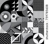 seamless pattern of abstract... | Shutterstock .eps vector #759785608