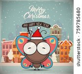 christmas greeting card with...   Shutterstock .eps vector #759785680