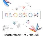blossom vector word isolated on ... | Shutterstock .eps vector #759786256