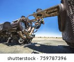 train cemetery  uyuni  bolivia. ... | Shutterstock . vector #759787396