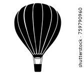 flying balloon vector | Shutterstock .eps vector #759790960