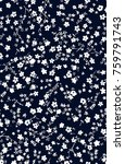 floral pattern.printing with... | Shutterstock .eps vector #759791743