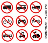 traffic prohibition road signs   Shutterstock .eps vector #759801190