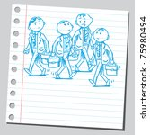 sketchy illustration of a group ... | Shutterstock .eps vector #75980494