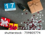 december 17th. image 17 day of...   Shutterstock . vector #759805774