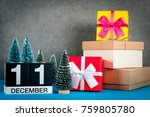 december 11th. image 11 day of...   Shutterstock . vector #759805780