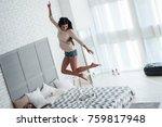 dancing queen in the morning.... | Shutterstock . vector #759817948