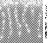 falling stars effect  sparkling ... | Shutterstock .eps vector #759819964