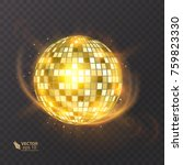 disco ball on isolated... | Shutterstock .eps vector #759823330