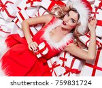 beautiful sexy girl in a new... | Shutterstock . vector #759831724