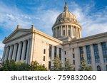 oklahoma capitol building in... | Shutterstock . vector #759832060