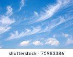 white fluffy clouds in the blue ... | Shutterstock . vector #75983386