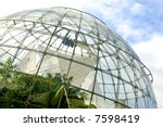 glasshouse - stock photo