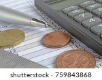 financial background with money ... | Shutterstock . vector #759843868