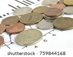 financial background with... | Shutterstock . vector #759844168