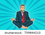young businessman sitting in... | Shutterstock .eps vector #759844213